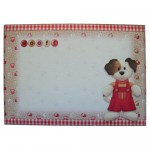 Doggie Greetings Shaped Fold Card - envelope