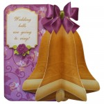 Wedding & Anniversary 3D Bell Shaped Card - view 1