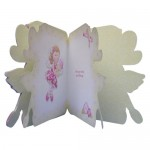 Flower Fairy Shaped Fold Card - inisde view