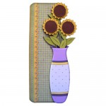 Sunflower Vase Shaped Fold Card - view 1