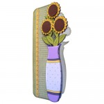 Sunflower Vase Shaped Fold Card - view 2