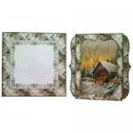 Woodland Christmas 7x7 Shadow Box Fold Card - finished set