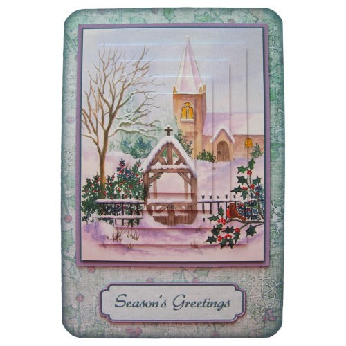 Winter Church Rounded Corner Fold Card - view 1