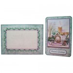 Winter Church Rounded Corner Fold Card - finished set