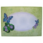 Butterfly with Flowers Round Topped Fold Card - envelope front