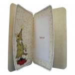 A Post Christmas Thank You Rounded Corner Fold Card -inside view