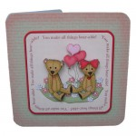You Make All Things Bear-able Decoupage Shaped Fold Card