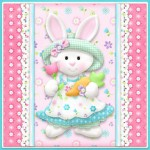 Spring Bunny Card Front