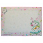 Bunny Girl Shaped Fold Card - envelope front