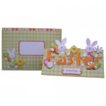 Easter Greetings Decoupage Over The Top Card - finished set