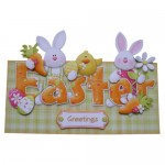 Easter Greetings Decoupage Over The Top Card
