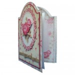 Antique Roses Round Topped Fold Card Kit - view 2