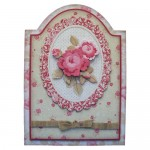 Antique Roses Round Topped Fold Card Kit - view 1
