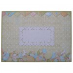 Hoppy Easter Decoupage Shaped Easel Card - envelope