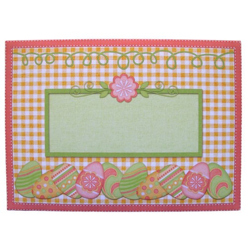 Easter Basket Shaped Easel Card - envelope front