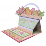 Easter Basket Shaped Easel Card - view 2
