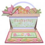 Easter Basket Shaped Easel Card - view 1