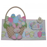 Easter Basket Decoupage No Cut Over The Top Card