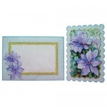 Purple Clematis Scalloped Fold Card - finished set