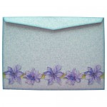 Purple Clematis Scalloped Fold Card - envelope back