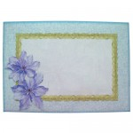 Purple Clematis Scalloped Fold Card - envelope front