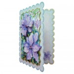 Purple Clematis Scalloped Fold Card - view 2