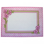 Meadow Flowers Rounded Corner Fold Card - envelope front
