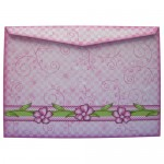 Meadow Flowers Rounded Corner Fold Card - envelope back