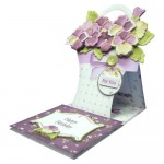 Pansy Basket Shaped Easel Card - view 2