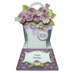 Pansy Basket Shaped Easel Card - view 1