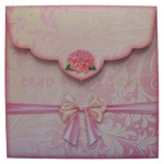 Delightful Dahlias Shaped Easel Card - envelope back
