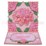 Delightful Dahlias Shaped Easel Card - view 1