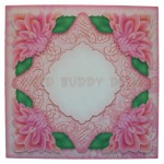 Delightful Dahlias Shaped Easel Card - envelope front