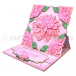 Delightful Dahlias Shaped Easel Card - view 2