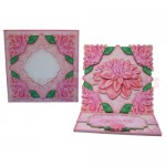 Delightful Dahlias Shaped Easel Card - finished set