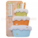Birthday Cake Shaped Fold Card - view 1