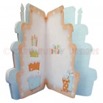 Birthday Cake Shaped Fold Card - inside view