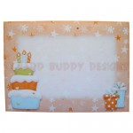 Birthday Cake Shaped Fold Card - envelope front