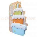 Birthday Cake Shaped Fold Card - view 2