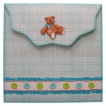 Blue Bear Wavy Edged Over The Top Card - envelope back