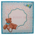 Blue Bear Wavy Edged Over The Top Card - envelope front