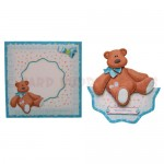 Blue Bear Wavy Edged Over The Top Card - finished set