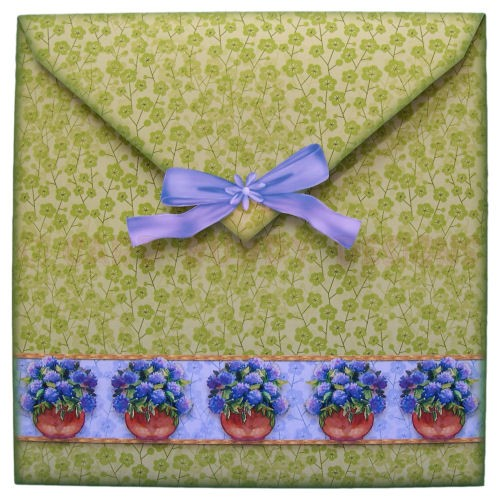 Relaxing in the Garden Large Scalloped Plate Card - envie back
