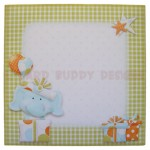 Birthday Elephant Over The Top Easel Card - envelope front