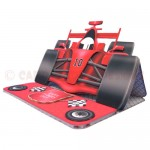 Racing Car Shaped Easel Card - view 2 (sentiment 1 of 5)