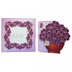 Pretty Purple Pot Plant Shaped Fold Card - finished set