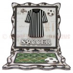 Soccer Wavy Edged Square Easel Card - view 1