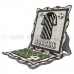 Soccer Wavy Edged Square Easel Card - view 2