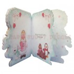 Eskimo Greetings Shaped Fold Card - inside view