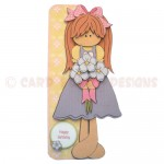 Flower Girl Shaped Fold Card - view 1